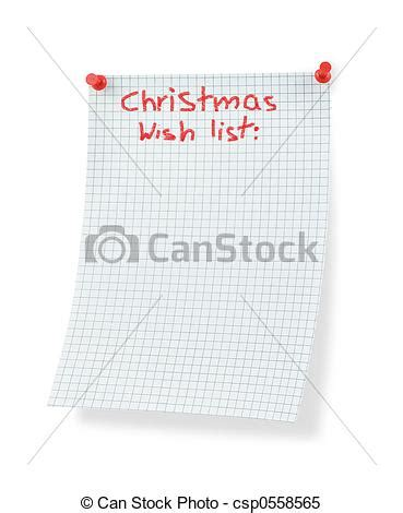 Stock Images Of Christmas Wish List Isolated On White Csp0558565  Search Stock Photos, Pictures