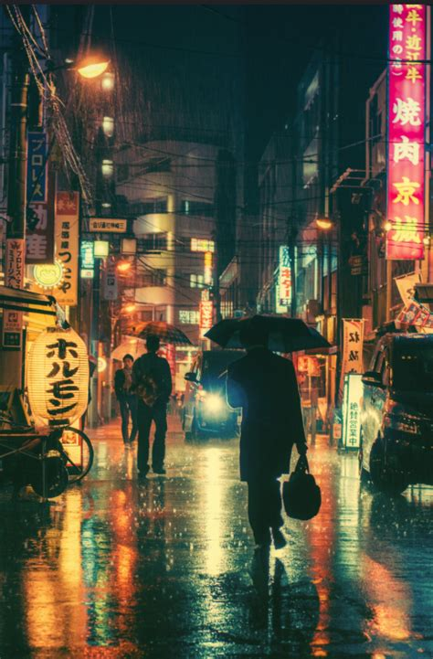 rainy night  tokyo  masashi wakui  japan asia