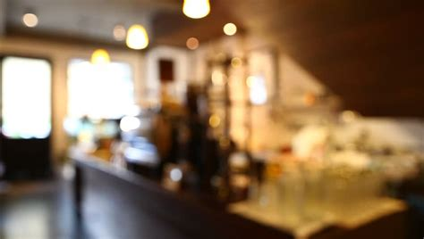 blurred background  coffee shop stock footage video