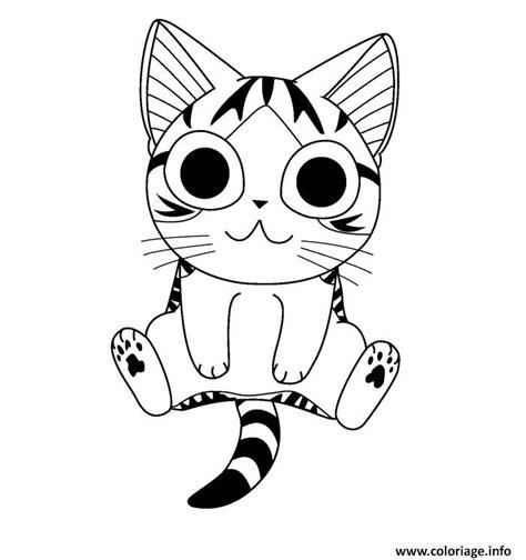 L'application chat que nous allons construire aujourd'hui va être assez simple. Coloriage Chat Chi Pret Pour Une Photo dessin
