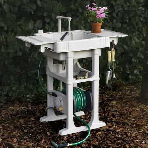 the portable outdoor sink hammacher schlemmer