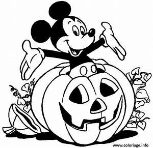 Citrouille Halloween Dessin : coloriage mickey sort d une citrouille halloween disney ~ Melissatoandfro.com Idées de Décoration