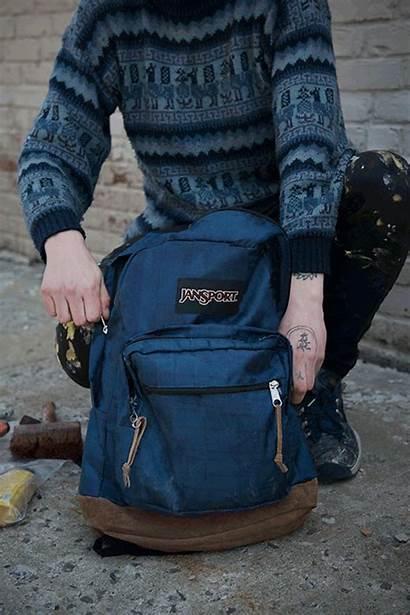 Jansport Backpack Pack Backpacks Canvas Posts Right