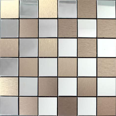 stainless steel tile metal tile backsplash kitchen stainless steel tiles square