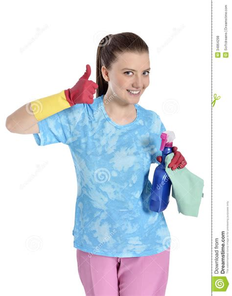 Pretty Woman Cleaning Stock Photo Image Of Homemaker