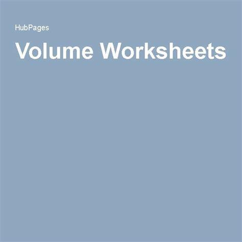 volume worksheets  images volume worksheets