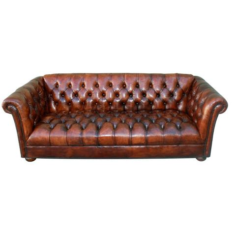 chesterfield tufted sofa vintage leather tufted chesterfield style sofa c 1930 39 s