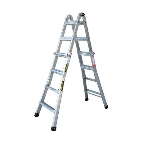 aluminium ladder bunnings gorilla 120kg mighty 15 multi purpose aluminium ladder i n