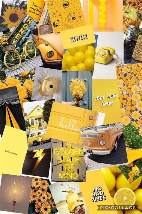 yellow collage fond d cran iphone pastel fond d cran