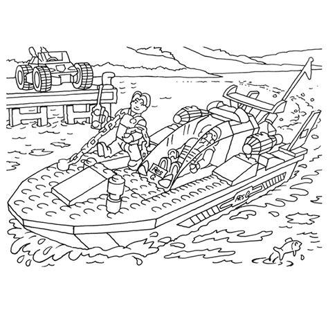 Speedboot Kleurplaat by Leuk Voor Lego Speedboat