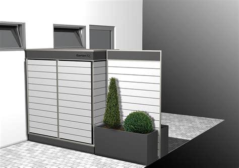 Sichtschutz Garten Doppelhaus by Gartenschrank Terrassensichtschutz Mit Stauraum Garten
