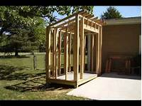 how to build a garden shed How To Build a Lean-To Style Storage Shed - YouTube