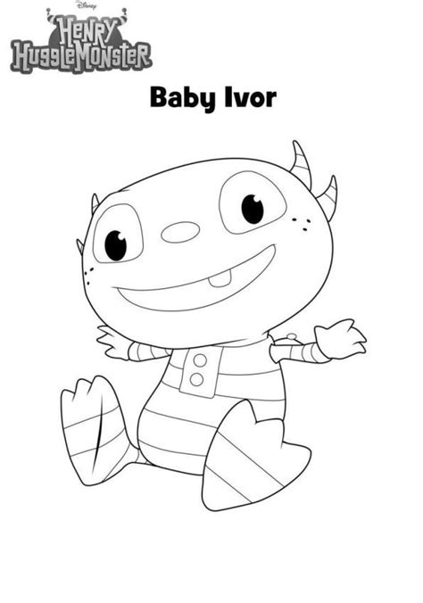 kids  funcom  coloring pages  henry hugglemonster