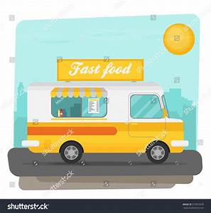 Street Food Truck Vector Illustration Food Stock Vector ...