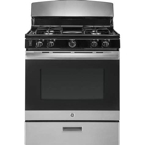 ge gas cooktop shop ge freestanding 4 8 cu ft gas range stainless steel