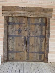 excellent barnwood double swing rustic doors as decorate With barnwood door ideas