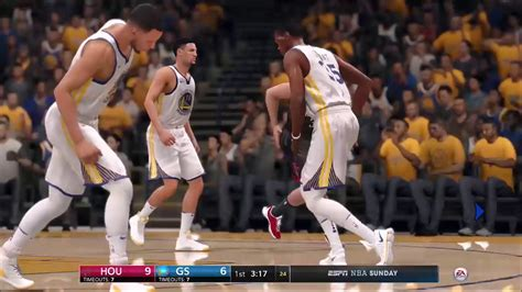 NBA LIVE 18 Game Opening   Rockets Vs Warriors   Coverage ...