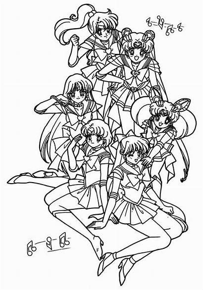 Sailor Moon Coloring Poster Pages Characters Luna