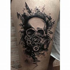 44+ Best Gas Mask Tattoos Collection