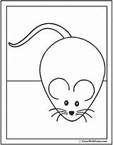 Mouse Coloring Pages Print Colorwithfuzzy sketch template