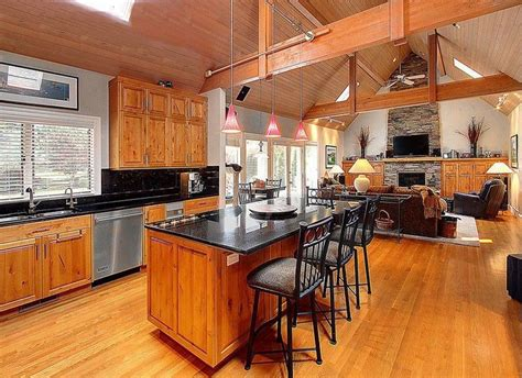 craftsman kitchen island 30 open concept kitchens pictures of designs layouts 2986
