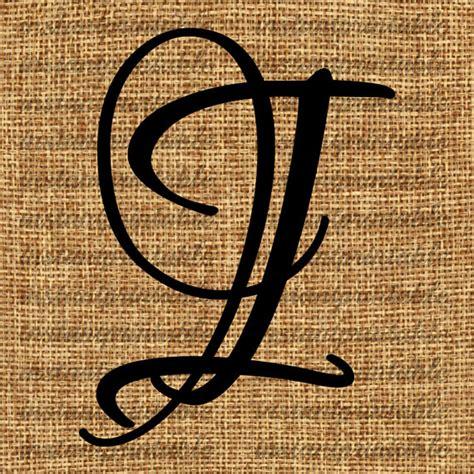 monogram initial letter  letter clip art letter decal