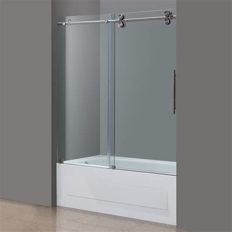 entry door hardware langham frameless sliding tub height door in chrome or