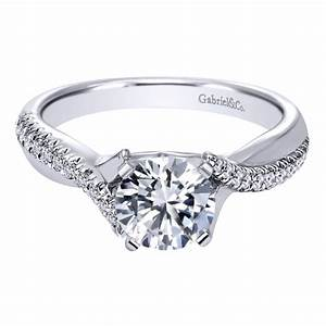 gabriel co engagement rings crossover 19ctw diamonds With crossover wedding ring