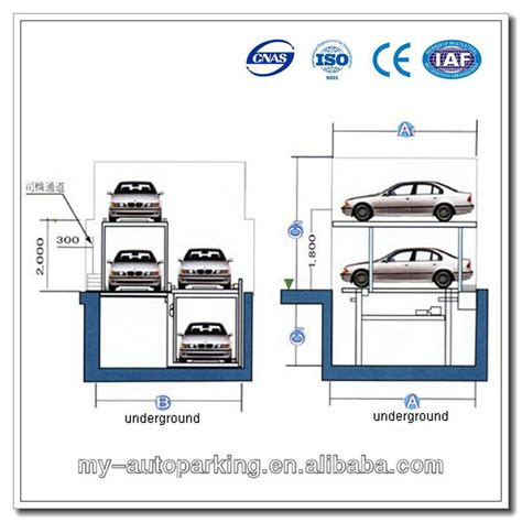 Underground 3 Level Car Lift Parking/ Pit Type Car Lift