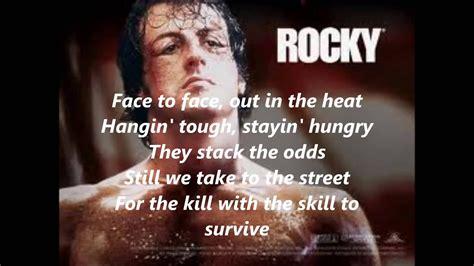 rocky theme songlyrics youtube