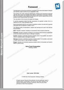 Volvo Fh12 Fh16 1998 Service Manuals