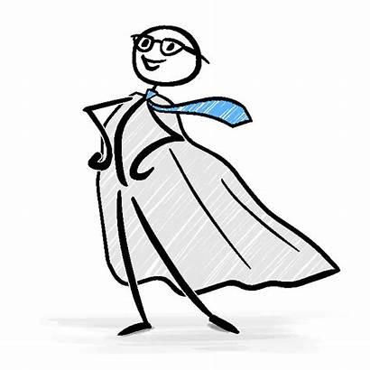 Stick Figure Superhero Confidence Pose Confident Businessman