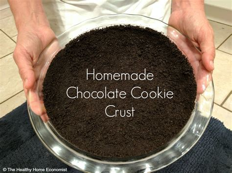 chocolate cookie pie crust recipe  healthy home economist