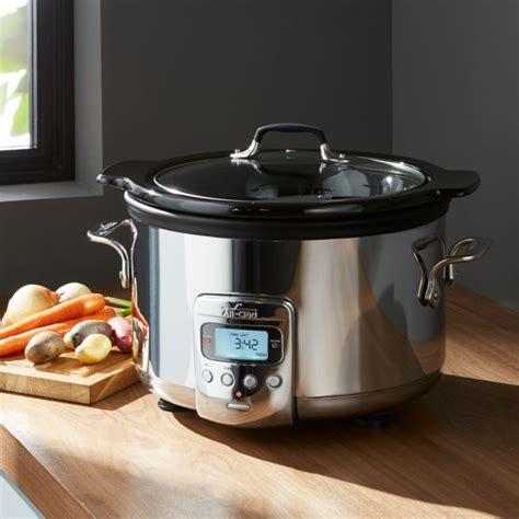 clad slow cooker  quart crock pot crate  barrel