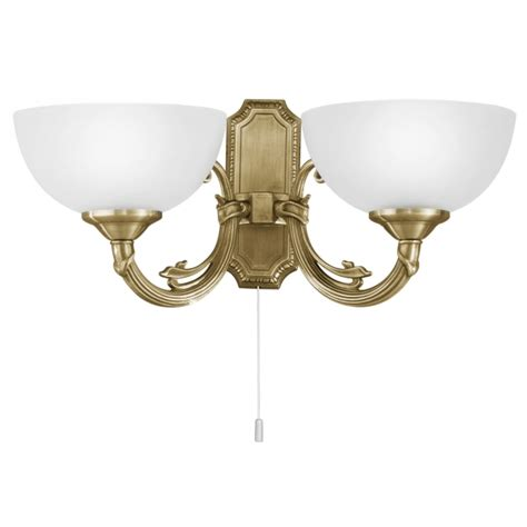 eglo eglo 82752 savoy bronzed double wall light with opal glass shades complete with pull cord
