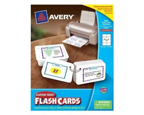 Avery Custom Print Flash Cards Punched 67 Best Toys Learning Education Images On
