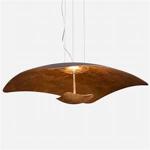 Suspension Noire Design : suspension art contemporain noir et or led estrella ~ Teatrodelosmanantiales.com Idées de Décoration