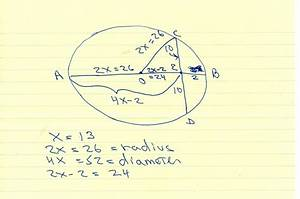 Solution  Question In Circle O  Diameter Ab Is