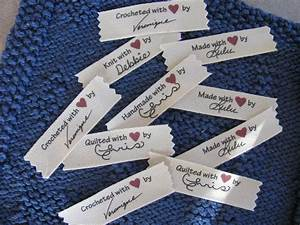 signature personalized sew in labels custom crochet labels With custom made by labels