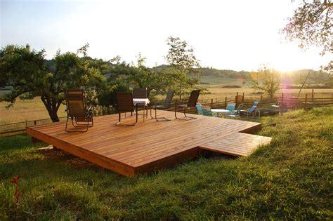 freestanding deck plans free handmade custom free standing deck by dagan design