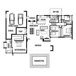 3 bedroom 285m2 floor plan only houseplanshq