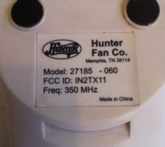 hunter fan remote 27185 060 need to identify a part that popped in a hunter fan remote