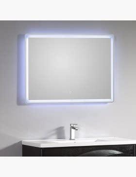 Miroir Lumineux Salle De Bain Led 95 X 66 Cm Avec Bouton