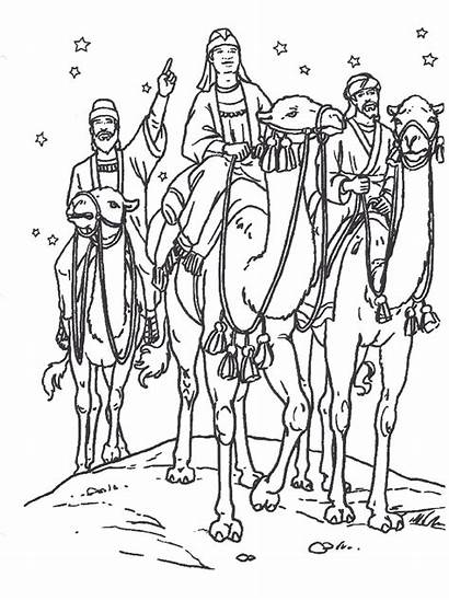 Coloring Pages Primary Wise Christmas Jesus Nativity