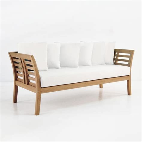 plantation teak outdoor sofa patio lounge furniture