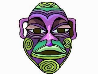 afrikanische masken basteln malvorlagen masken