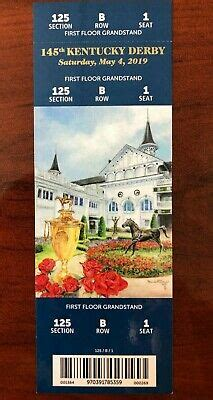kentucky derby  floor grandstand ticket stub