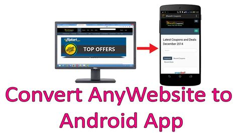 how to from on android how to convert any website into android application in
