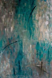 Painting Abstract Swimming