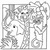Jungle Coloring Pages Animals sketch template